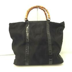 Secondhand Used There Is Translation Bamboo Handback Black Mens Women And039s