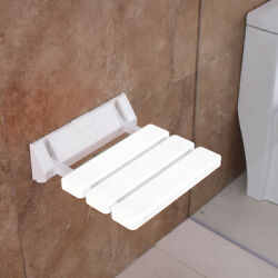 Wall Mounted Shower Seat Foldable Bathroom Bench For Home Sauna Room White New