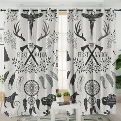 Native Indian Dreamcatcher Feather Window Living Room Bedroom Curtains Drapes