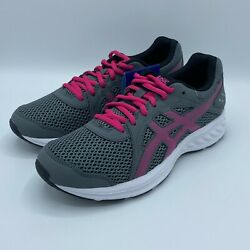 Asics Womenand039s Jolt 2 Running Sneakers - Size 7 1012a151 Gray/white/pink/black