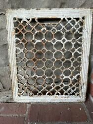 Antique Cast Iron Hearts And Hexes Heat Heating Grate