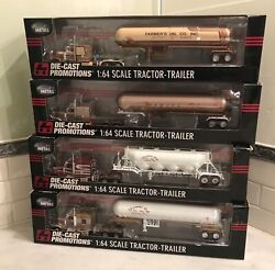 Set Of 4 Farmers Oil Pete And Kw Dcp Diecast Promotions 1/64 All 182 Of 252 Rare