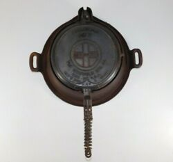 Antique Griswold Erie Pa 885e 886a American Cast Iron 8 Waffle Iron Maker Base