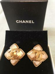 Rare Earring Pale Pink Gold _63658