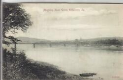 1908 Allegheny River Scene Kittanning Pa Used Pc1349