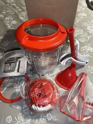 Tupperware Power Chef System Chop 'n Prep Chef Red New Large