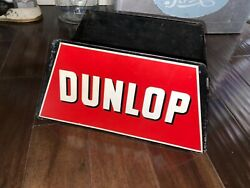 Rare Vintage Original Dunlop Tire Metal Display Stand Sign Gas And Oil Made In Usa