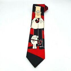 Mens Tie Rm Style Dilbert Comic 100 Silk Made In Usa New
