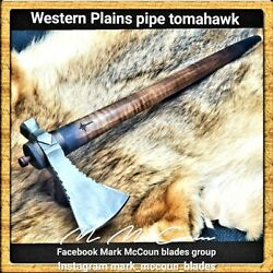 Hand Forged Western Plains Pipe Tomahawk By Mark Mccoun Trekking Usa