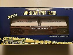 American Flyer 2013-17 Flatcar With Dairy Milk Containers Nib Amf 48576
