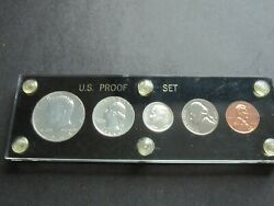 1964 United States Proof Set In Capital Holder 90 Silver