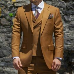 Men Suits Single-breasted Formal Business Two Button Notched Lapel Tailored Made