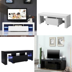 51 Tv Stand Unit Cabinet Console Led Shelve Single Drawer Furniture High Gloss
