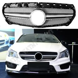 Front Racing Facelift Grills For Mercedes-benz W117 Cla-class 2013-2016 Amg Silv