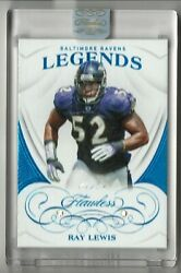 1/1 Ray Lewis 2019 Flawless Legends 73 Double Diamonds Baltimore Ravens Mint