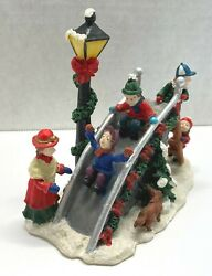 Christmas Winter Village Playground Park Slide Enchanted Forest Holiday Decor 4