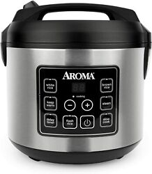 20 Cup Cooked 10 Cup Uncooked Digital Rice Cooker Slow Cooker Food Steamer Ss