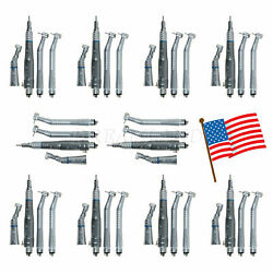 1-10 Dental High Turbine And Low Speed Handpiece Contra Angle 4h Air Motor F/2c
