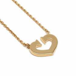 Heart Necklace 750pg Pink Gold With Box Pawn Shop Appra _9472