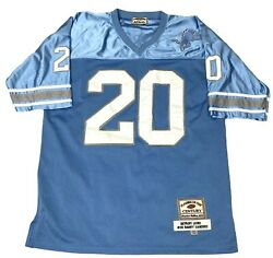 Players Of The Century Throwback Barry Sanders Detroit Lions Jersey Sz 2xl 54