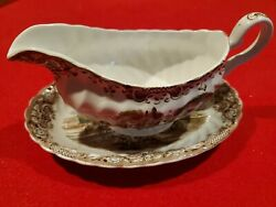 Heritage Hall Gravy Boat And Plate Johnson Brothers Southern Plantation England