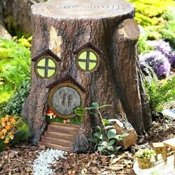Wall Trees Lawn Ornament Flowers Glow in The Dark Fairy Door and Windows