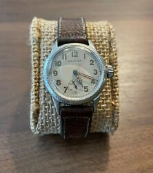 Vintage Waltham Ord Dept Military Issue Ww2 Watch Luminous Dial Hands