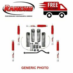 Rancho Sport Suspension Lift Kit 3-3.5 Front And 2.5 Rear Fits Wrangler