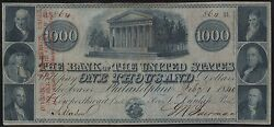 1000 1840 Obsolete Note The Bank Of The U.s. Serial 864 Rare Wl6187