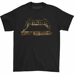 Metallica Menand039s Leather Lollapalooza 2015 Event T-shirt Black