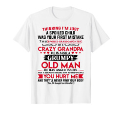 Trend I#x27;m A Spoiled Granddaughter of A Crazy Grandpa T Shirt Birthday Gift
