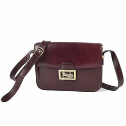 Vintage Celine Carriage Fittings Classic Smooth Scarf Shoulder Bag Women And039s Made