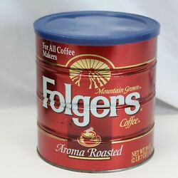 Folgers Can Tin For All Coffee Makers 39 Oz Big Lebowski Holy Grail Urn