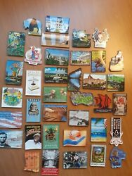 Refrigerator Magnets 37 Preowned. Lot 1