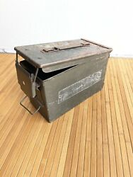 2 Us Army Ammo Boxes Antique Vintage Old Large Or Small Caliber