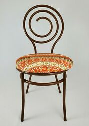 Mid-century Accent Vanity Chair Metal Art Deco Style Grand Rapids Chair Co.