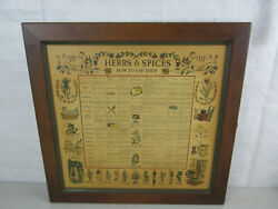 Vintage 1965 Three Mountaineers Inc. Wall Mounted Herbs And Spice Rack/cabinet