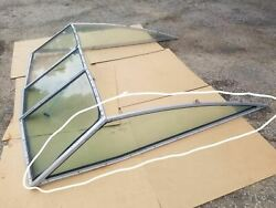 Sea Ray Ski Boat Runabout Port Side Section Windshield Glass Window