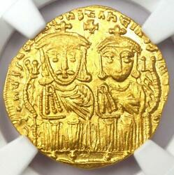 Constantine Vi Av Solidus Gold Coin 780-787 Ad - Certified Ngc Ms Unc