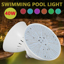 12v 40w Rgb Colorchanging In-ground Led Pool Light For Pentair And Hayward Fixture