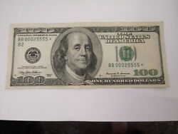 Very Rare 1999 Federal Reserve 100 Dollar Star Note Very Low Serial