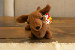 Ty Beanie Baby Weenie 1995 - Rare Retired With Errors And Pvc Pellets