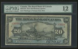 1913 20 Train Note Royal Bank Of Canada Rare Signed Pmg 12 Fine Wl4957