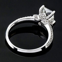 Solitaire 4 Claw 1.42 Carat Vs2/d Princess Diamond Engagement Ring White Gold
