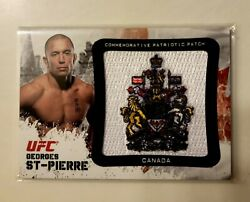 💥2012 Topps Ufc Bloodlines George St Pierre Patriotic Patch Card❗