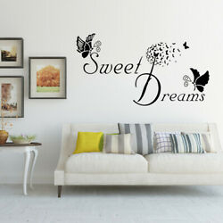 Sweet Heart Butterfly Love Quote Wall Stickers Bedroom Removable Decals DIY P