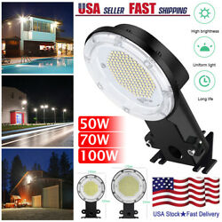 50/70/100w Led Wall Light Dusk To Dawn Photocell Outdoor Security Area Lamp