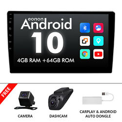 Dvr+carplay+cam+double Din 10.1 Inch Android 8-core 4+64gb Car Stereo Gps Radio