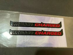 New Mustang Gt Billet 5.0 Whipple Charged Emblems Badge Gloss/black/red 2pcs