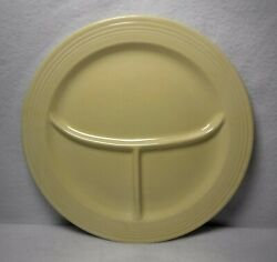 Homer Laughlin China Fiesta Vintage Old Ivory Grill Compartment Plate - 10-1/2